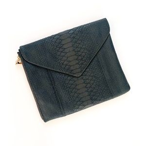 French Connection Faux Croco Envelope Clutch